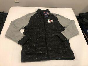 NWT $125.00 Fanatics Mens Kansas City Chiefs Podium Jacket Black / Gray Size XL