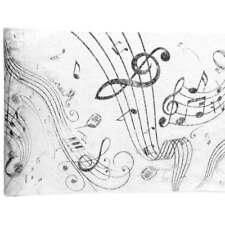 (0,53€/m) 5m Musiknoten Tischläufer Notenschlüssel Klavier Schwarz weiß Deko NEU