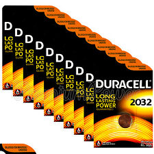 10 x Duracell Lithium Coin Cell battery CR2032 CR BR2032 DL2032 3V EXP:2025