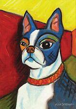 Toland Home Garden Pawcasso Boston Terrier 12.5 x 18 Inch Decorative Puppy Dog P