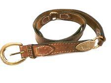 Vintage Mens Belt 3-Section Brown w Contrasting Leather 00004000  Belt Size 42 1970S
