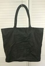 Womens CHICO'S Large Black Simulated Leather Tote Bag Shopper NWOT