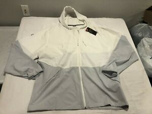 NWT $60.00 Under Armour Mens Storm Squad Warm Up Jacket White/Gray Size 4XL