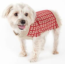 Pet Life Butterscotch Box Weaved Heavy Cable Knit Designer Dog Sweater XS