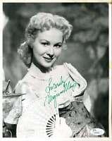 Virgina Mayo Jsa Coa Hand Signed 8x10 Photo Authenticated Autograph