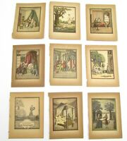 Antique 18th Century 9 Lithographs From German Book Breslau Daniel Dietsch 1748