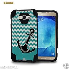 Chevron Anchor Shockproof Case w/Stand Skin Cover for Samsung Galaxy J7 J700