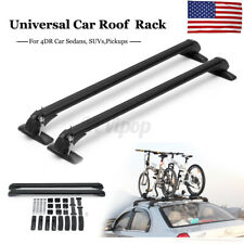 2pcs 39'' Roof Rack Cross Bars Luggage Carrier Rubber Gasket For 4DR Car Sedans