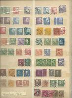 Briefmarken Schweden, gestemp. 1 volle Seiten