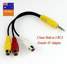 3.5mm AUX Male to 3RCA Female Cable Composite Stereo Audio AV Adapter Cord