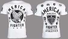AMERICAN FIGHTER Mens T-Shirt FORT HAYS Eagle WHITE Athletic Biker Gym $40 NWT