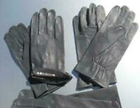 BW Handschuhe Leder Lederhandschuhe Fingerhandschuhe ungefüttert grau 8 - 10