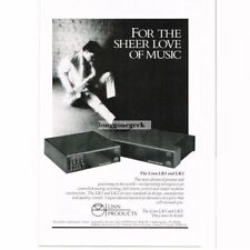 1986 Linn Products LK1, LK2 Preamplifier amplifier Stereo Hi-Fi Vtg Print Ad