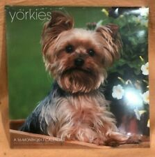 Yorkies Yorkshire Terrier Wall Calendar 2017 New Sealed 16 months