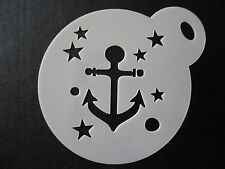 Laser cut small anchor stars design cake, cookie,craft & face painting stencil