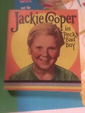 JACKIE COOPER PECKS BAD BOY SOFTCOVER Saalfield Big Little Book 1314