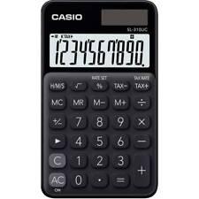 NEW 2019 Casio SL310UC-BK Handheld Pocket Calc.│10 Digit│TAX│2-WAY POWER│BLACK