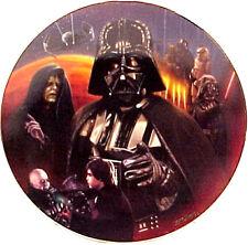 Vintage Star Wars Heroes & Villains Ceramic Collector Plate- Darth Vader Montage