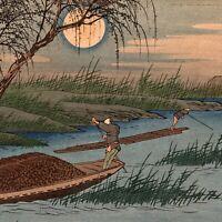 """Utagawa HIROSHIGE – No. 31, """"Seba-juku"""" antique Japanese woodblock print"""