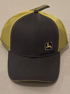 John Deere Hat Cap Charcoal/Yellow CD29913 XGM Licensed Mesh SnapBack Adjustable