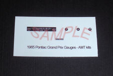 1965 PONTIAC GRAND PRIX GAUGE FACES for 1/25 scale AMT KITS