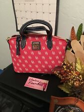 Dooney And Bourke Red Ruby Signature Satchel NWT