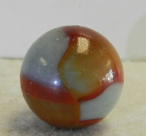 #13174m Vintage Peltier Glass Shooter Marble .85 Inches