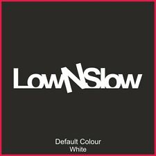 Low and Slow  Decals x2, Car, Vinyl, Decal, Sticker, JDM, VW VAG EURO, N2172