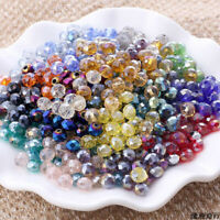100× 6mm Loose Beads Lot Glass Crystal For Bracelet Necklace DIY Jewelry Making