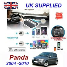 FIAT PANDA PER IPHONE 5 6 7 8 se 10 mp3 AUX Audio Digitale Modulo caricatore CD