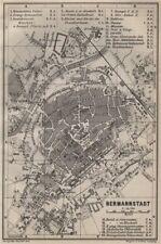 SIBIU (HERMANNSTADT) antique town city planul orasului. Romania harta 1905 map