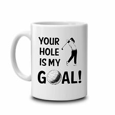 Rude fun golf mug-novelty golf gift-golfing gifts-golfer mug-golfing accessories