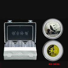 30 Packs of Universal Coins Protection Box Case with Gaskets Coin Round Capsules