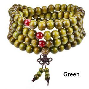 8mm 108 Prayer Bead Sandalwood Buddhist Buddha Meditation Mala Bracelet Necklace