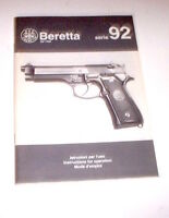 Armi - Brochure Istruzioni Pistola Beretta serie 92 - 1992