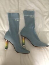 Vetements Sock Boots - Baby Blue Size 37 w Receipt and Box