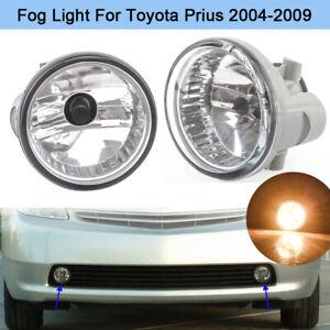 Front Fog Light Lamp For Toyota Prius 2004 2005 2006 2007 2008 2009 w/ Bulb PAIR