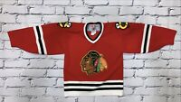 Vintage 90's NHL Chicago Blackhawks CCM Hockey Jersey Boys Sz M Rare
