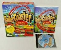 Rollercoaster Tycoon - MicroProse - 1999 PC Big Box Game  Mint Disc