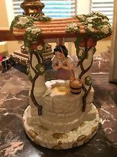 "Disney Princess Snow White Well Music Box Figurine Plays ""I'm Wishing"" Song"