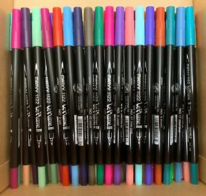 LOT of 36 LePlume II 2 Acid Free MARVY 1122 Dual Double Ended Markers Brush Art