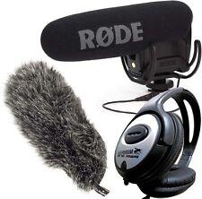 Rode Videomic Pro Rycote Kamera-Mikrofon  + DeadCat VMPR + KEEPDRUM Kopfhörer