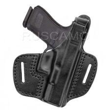 Belt Holster for Glock 19 genuine leather, black