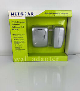 NEW IN BOX NetGear Wall-Plugged Ethernet Extender Wall Adapter Kit XE102G
