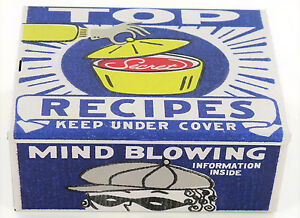 Tin Cigar Box TOP RECIPES Treasure tin Retro Kitsch Storage Cooking Stash