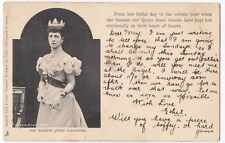 HM Queen Alexandra Vignette Card PPC, UB, Highbury SON 1907 PMK By Tuck