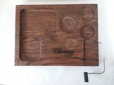 """Wood Cheese Board Wire Slicer Server 16"""" x 12"""""""