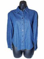 Women's Guess Jeans Denim Button Down Shirt Size Medium