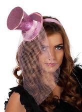 Glitzer Funkel Schimmer Zylinder Pink NEU - Karneval Fasching Hut Mütze Kopfbede