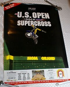 VINTAGE MOTOCROSS FOX RACING JT SUPERCROSS MX HONDA JEREMY MCGRATH USOPEN POSTER